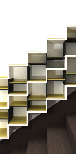 Atelier g n ral escalier x3 - Escalier rangement integre ...